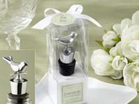 Wholesale Bird Bottle Stoppers Wholesale - New Stainless Steel Love Bird Wine Stopper Bridal Wedding Gift Wine Bottle Stopper Wine Pourer Vinhos Stoppers