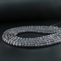 Wholesale Gemstone Cat - Grey Cat's Eye Round Beads, Glass Cat Eye Gemstone 6 8 10mm Sold Per Strand(set) 15 inches Length
