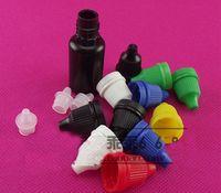 flacons compte-gouttes en plastique noir achat en gros de-Flacon compte-gouttes en plastique de 10 ml Black Eye Drop Bottle Bouteille sombre Éviter la lumière, petite bouteille