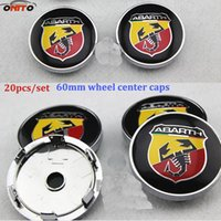 Wholesale Emblem Abarth - Practicality 4pcs car emblem wheel Center caps for FIAT Abarth 60mm 2.36inch auto wheel center covers car stylin