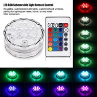 Edison2011 RGB 10LED Waterproof Submersible LED Tea Light Candle Light With Remote Controller For Wedding Party Events Christmas