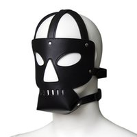 Wholesale Semi Hot Sex - Comfortable Interesting Hot Sale Semi-Enclosed Headgear PU Sex Mask Black CP-GN01011