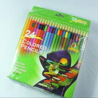 Wholesale Wooden Pencil Wholesale - 24 Colors Painting Pens PrettyBaby Arrival Wooden Colored Pencil Coloring Pencils for Coloring Books Secret Garden Drawing Pencils