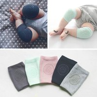 Wholesale Knee Protections - 1 Pairs Baby Knee Protection Pads Crawling Protector Kids Cotton Kneecaps Children Short Kneepad Baby Safety Leg Warmers