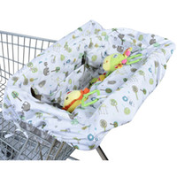 Wholesale-Colorful Dots Shopping Cart Cover Anti Dirty Baby Safety Assento de almofada Criança Folding Portable Trolley Seat