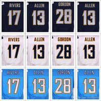 Wholesale Philip Rivers - Elite Men all Stitched jerseys 17 PHILIP RIVERS 13 KEENAN ALLEN 99 JOEY BOSA 28 MELVIN GORDON 85 Antonio Gates blue white