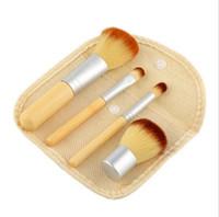 Wholesale kabuki brushes set resale online - Portable Wooden Makeup Brushes Bamboo Elaborate Cosmetic Brush Set Woman s Kabuki Brushes Kit Makeup Brush set OOA2155