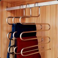 Wholesale Plus Size Towels - Hanger Pants Clip Multi-layer Hanger Wardrobe Multifunctional Storage Plus Size Fashion Pants Hanger TOP1693