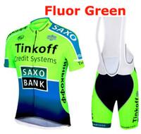 Wholesale Cycle Top Bib Shorts - fluor Sportswear Mountain Bike Ropa Ciclismo MTB top Bicycle Wear Cycling Jersey clothing Shirt Bib Shorts sets