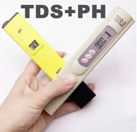 pluma de medidor de ph portátil al por mayor-Pluma portátil LED Digital PH ATC + TDS calibrar por pulsador TEMP botton medidor de calidad del agua Purity Tester
