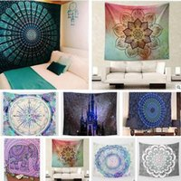 ingrosso arazzo indiano-Hippy Mandala Tapestry Bohemian Elephant Tapestry Wall Hanging Psichedelico Wall Art Dorm Decor Beach Tiro Indian Wall Tapestries 21 stili