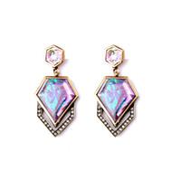 Wholesale gemstone party earrings gold - Hot Fresh kendra crystal scott earrings artificial gemstone earring drop anomaly artificial stone earring stud dangles fashion jewelry