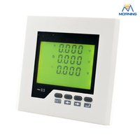 Wholesale Lcd Meter Solar - ME-3AV3Y 96*96 mm white and black Three phase switching input solar voltage meter with LCD display