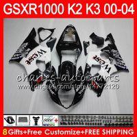 Wholesale west fairings - 8Gifts TOP West black 23Colors For SUZUKI GSXR1000 00 01 02 03 04 K2 14HM5 GSXR-1000 GSX R1000 2000 2001 2002 K3 GSXR 1000 2003 2004 Fairing