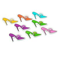 Wholesale Projects Sewing - Kimter Mixed High-heeled Shoe Wooden Buttons With 2 Holes 3.6x2.3cm For Cardmaking Scrapbooking Sewing Projects Pack Of 50pcs I662L