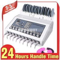 Wholesale microcurrent machine home for sale - Group buy Promotion Price Body Stimulation Electric Muscle Stimulator Massager BIO Microcurrent Slimming Salon SPA Machine Home Use