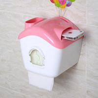 Wholesale Mini Tissue Paper - Wholesale- Fashion Tissue Boxes Mini House Style Home Paper Napkin Holder Free Shipping ZJ04
