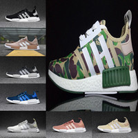 Wholesale Winter Hunting Camouflage - 2017 Top quality NMD Runner men women Primeknit Camo Army Green Boost Cheap Sale Fashion Running Shoes Camouflage Casual Boosts Size 36-44
