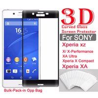 Wholesale Performance Mirror - bulk 3D Curved Glass For Sony Xperia XA  XA-Ultra X X-performance Xperia XZ X-Compact 3D Curved Tempered Glass Phone screen protector film