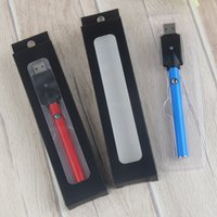 Wholesale Usb Charger Mah - Super Slim eGO Push Button Thick Vape Batteries 280 mah USB Charger 510 Thread O Pen Wholesale for eCig Ceramic Cartridges Wickless Glass