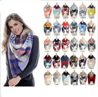 Sciarpe Plaid Coperta Sciarpa Donne Tartan Tartarughe Sciarpa Griglia Scialle Wrap Lattice Neckchief Cachemire Muffler Scarpa Winter Check KKA2768