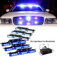 предупреждение аварийного автомобиля оптовых-54 LED с аварийного автомобиль Автомобиль строб вспышки света бары предупреждение синий белый