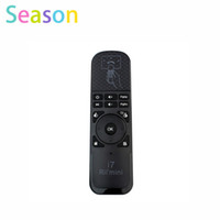 Wholesale Motion Mouse - Wholesale- Mini Fly Air Mouse Rii i7 2.4G Wireless Remote Combo Built-in 6 Axis for PC Smart tv Android tv Box PS3 Motion Sensing Gamer