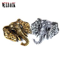 Wholesale Elephant Brooch Gold - Wholesale- Retro elephant brooch fashion cute elephant buckle Brooch rhinestone Europe and America shawl and badges for men and women