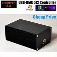 Wholesale Computer Lighting Controls - Cheap Price HD512 Stage Light Controller Box 3PIN DMX Out Socket USB Cable Computer Control System Support Many Software Quman DMX512 TP-D13