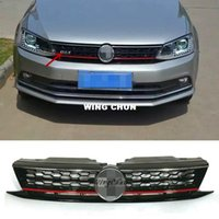 Wholesale Volkswagen Amarok - High Quality ABS Honeycomb GLI Front Upper Grille Fit For VW Jetta MK6 2015 2016 Up Grill
