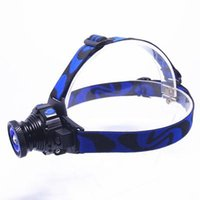 Wholesale Hunting Headlamps - New Headlamp LED Flashlight Adjustable 90 Degree Headlamp Zoomable Light For Hunting Camping Climbing with Retail Package DHL Free OTH341