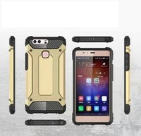 Wholesale p8 lite armor case for sale - Group buy FOR HUAWEI P8 P8 LITE P9 P9 LITE HONOR A HONOR X MATE PRO Y5 II Y6 II Armor Hybrid Defender Case TPU PC Shockproof Cover Case
