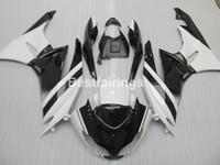 kits de carenado postventa zx6r al por mayor-Kit de carenado de piezas de recambio para Kawasaki Ninja ZX6R 2009 2010 blanco negro carenados ZX6R 09 10 GT30