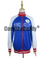 Wholesale Top Anime Cosplay Costumes Female - Yuri!!! on Ice Yuri Plisetsky Blue Jacket Coat Top Cosplay Costume