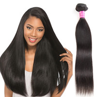 Wholesale Cheap 1pcs Hair Extension - Peruvian Malaysian Brazilian Indian Human Hair Weave Bundles 1pcs per lot 8-40 inch straight Hair Weaves Unprocessed Cheap Hair Extensions
