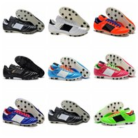 Wholesale Copa Football Boots - 2016 Men Copa Mundial Leather FG Soccer Shoes Hot Soccer Cleats 2015 World Cup Football Boots Size 39-45 Black White Orange botines futbol