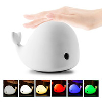 Wholesale Light Sensitive Water Tap - Valentine's Day 6-Modes Light Children Night Light USB Rechargeable Cute Dolphin Design LED Night Lamp with Warm White Sensitive Tap Control