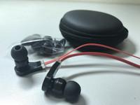 Wholesale Earphone Headphone Beat - 3.5mm in ear beating earphones headphones earbuds with microphone for iphone 5c 5s Samsung with zipper case earphones with mic