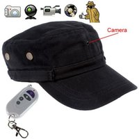 gorra de beisbol cámara de video al por mayor-Control remoto sombrero cámara HD 720P Cap DVR usable mini Audio Video Recorder apoyo TF tarjeta de envío de la gota