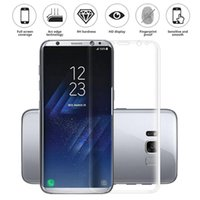 Wholesale Galaxy Clear Screen - Premium Ultra Slim Full Coverage Curved Soft TPU Anti-Shock High Clear Screen Protector For iPhone 6 6S 7 Samsung Galaxy S6 S7 S8 Edge Plus