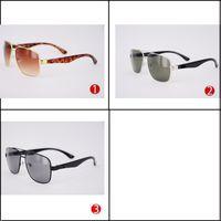 Wholesale Branded Sunglases - Wholesale Designer Sunglases for Man Big Frame Black Fashion Rectangle Men's Sun Glasses Gold Cheap Driving Retro Eyegalsses Brand China