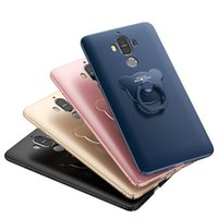 Wholesale Small Chinese Phone - 100% high quality Huawei mate 9 mobile phone protection shell   small panda ring bracket protection shell four colors optional
