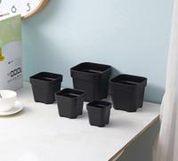 ingrosso dimensioni del vaso da giardino-Commercio all'ingrosso 50 pezzi MOQ 5 opzione opzione durevole vasi di plastica quadrati per piante, talee piantine vivaio pentole giardino vivai