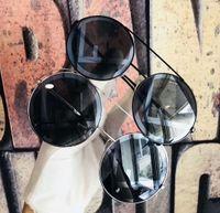 Wholesale women s eye glasses frames - Women Round Gold Sunglasses 0258 S Designer Sunglasses New with Box