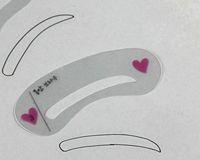 plantillas de formas de ceja al por mayor-3pcs / set plantilla de la plantilla de la ceja del ojo conjunto de plantillas de la plantilla de la ceja modelo de sobrancelha conformación de la sombra de ojos del molde para Sombrancelha de Diy