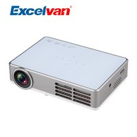 Wholesale Dlp Shutter 3d - Wholesale- Excelvan LED9 Mini LED DLP Projector Android 3D Active Shutter Projector 1280*800 Full HD Proyectores With 1GB RAM+8GB ROM