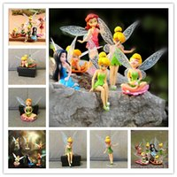 Wholesale Tinkerbell Action Figure Sets - 2017Hot Sale 6Pcs Set 7-10cm Anime Tinkerbell Fairy Figure Toy Tinker Bell PVC Action Figures Dolls For kids Gifts