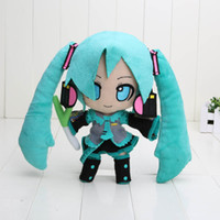 Wholesale Hatsune Doll - Japanese Anime Retail Hatsune Miku VOCALOID series 24CM snow Hatsune Miku Plush Toy Soft Stuffed Dolls
