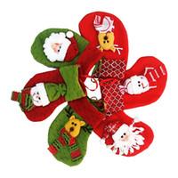 Wholesale mini linen bags resale online - Hot Sale Christmas Decorations Stocking Christmas gift bag mini cute Christmas socks high colors