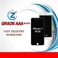 Wholesale Inch Lcd Module - A +++ 5.5 Inches LCD quality for iphone 7 plus lcd screen with touch digitizer screen module replacement white black DHL free shipping